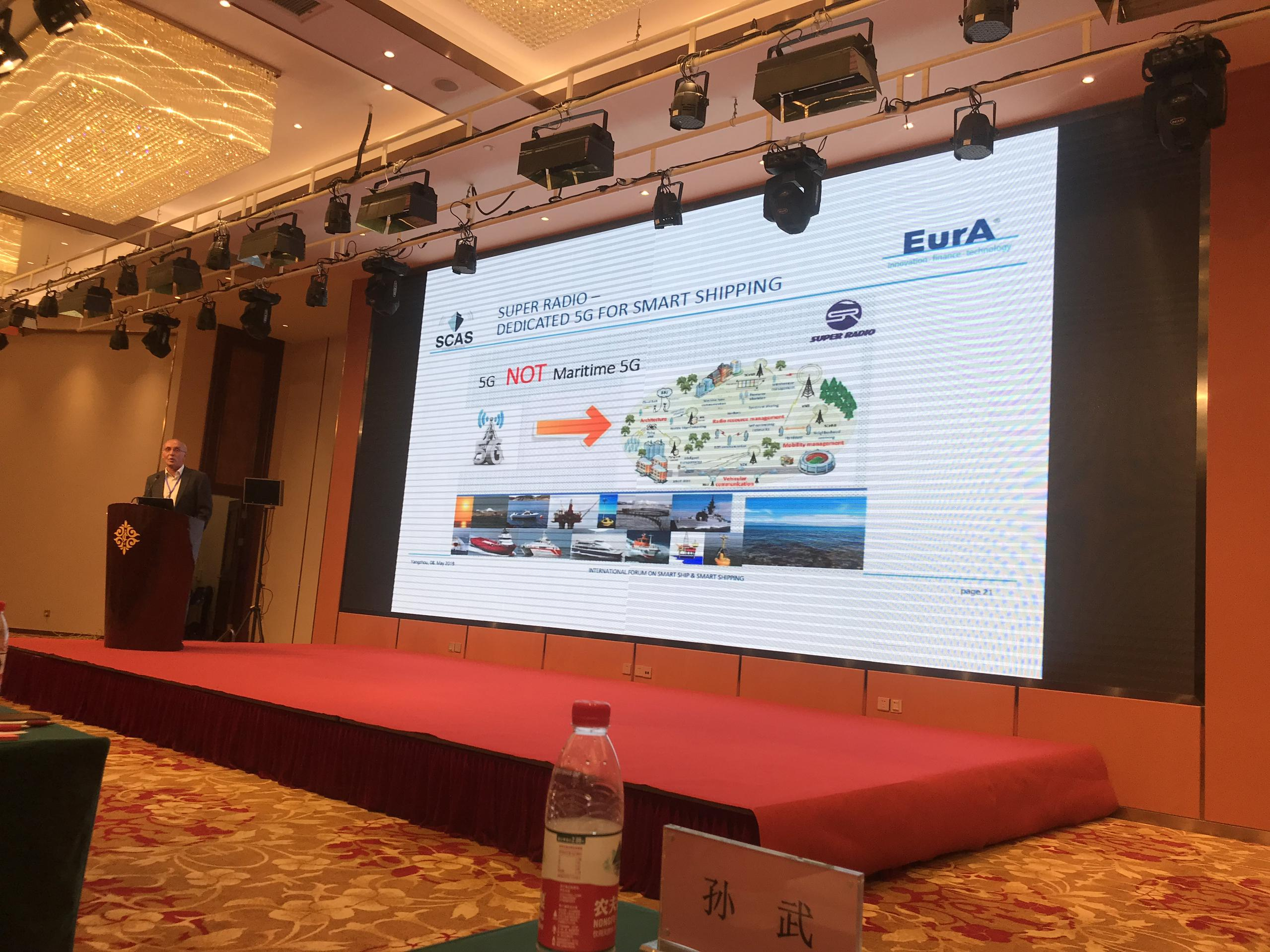 Presentation in International Forum on Smart Shipping